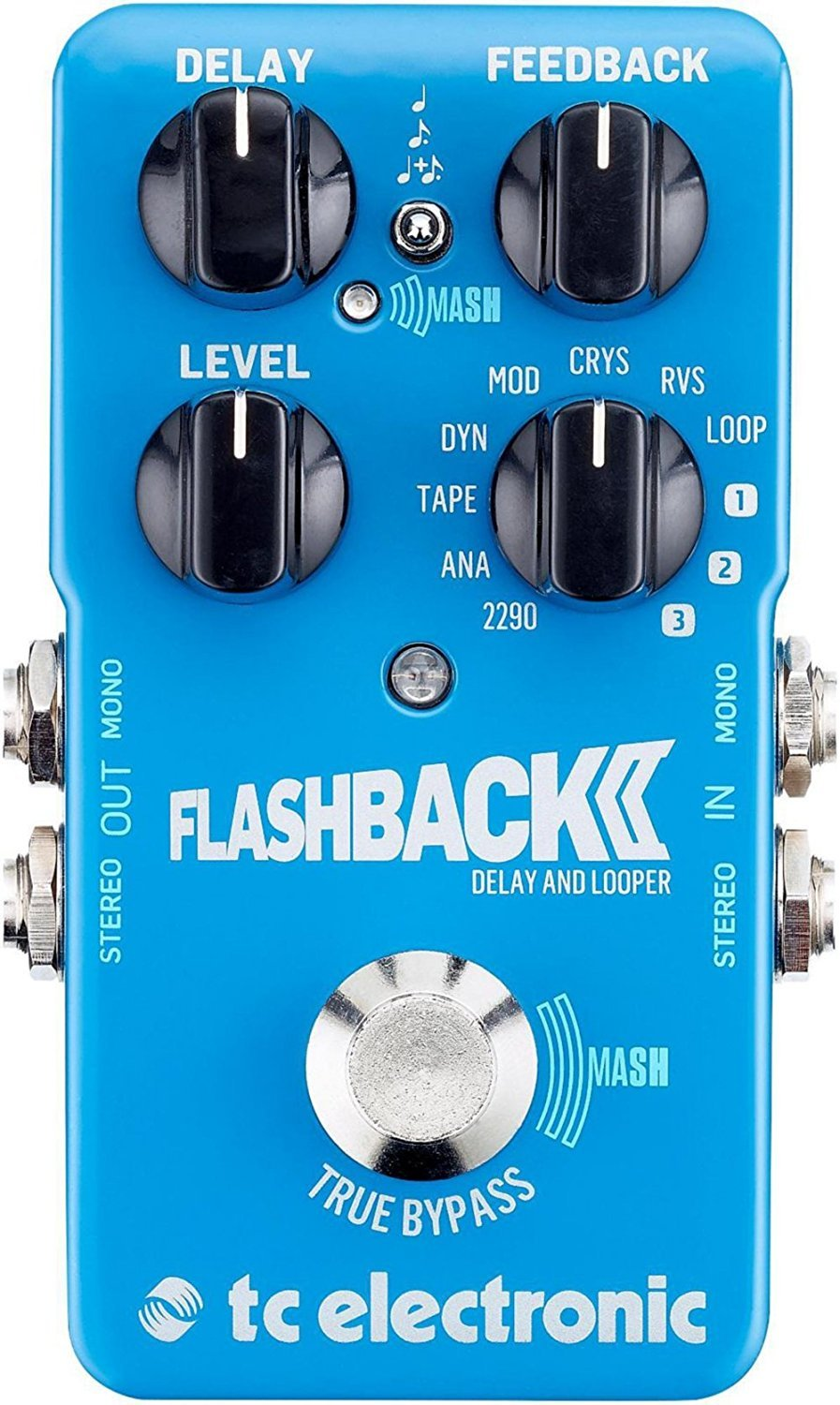 Tc Electronic Flashback 2 Delay Pedal With Toneprint Circuits Gt Boss Dd Digital Guitar Schematic Diagram Bundled Blucoil Power Supply Slim Ac Dc Adapter For 9 Volt 670ma Pack Of
