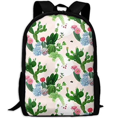 SZYYMM Bee Cactus And Flower Oxford Cloth Casual Unique Backpack, Adjustable Shoulder Strap Storage Bag,Travel/Outdoor Sports/Camping/School For Women And Men