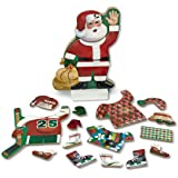 Melissa & Doug Santa Wooden Dress-Up Doll and Stand With Magnetic Accessories (22 pcs)