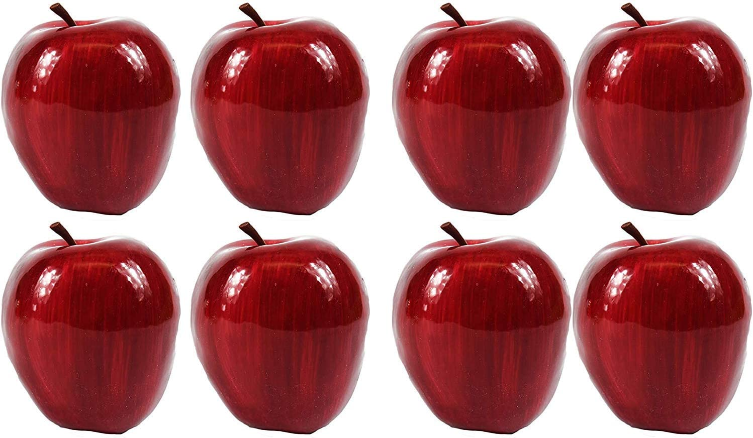 Set of 8 Faux Fruit Red Apples! Perfect For Home Decor And School Projects!