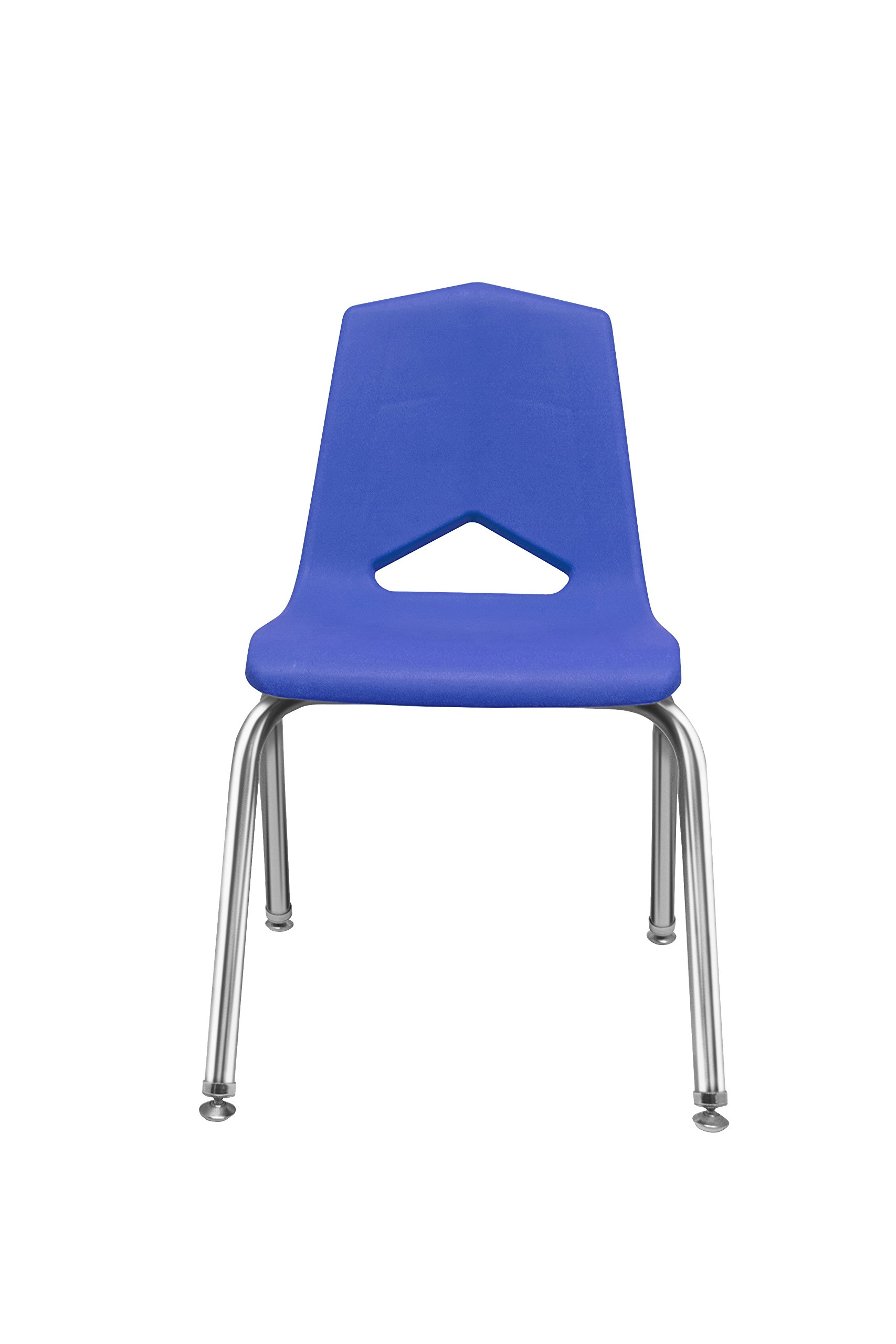 Marco Group MG1101 Series V-Back Chair, 12-Inch Seat Height, Blue/Chrome, 6 Per Carton