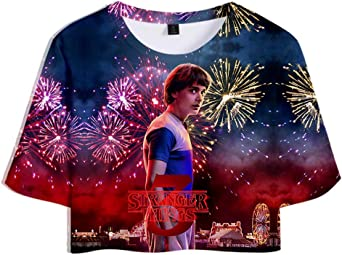 Camiseta Stranger Things Chica, Camiseta Stranger Things 3 Cortas Mujer T-Shirt Manga Corta Niña Impresión 3D T Shirt Regalo Camisa Verano Camisetas y Tops: Amazon.es: Ropa y accesorios