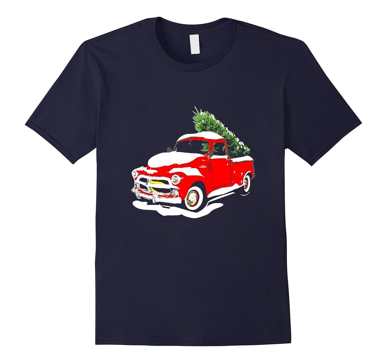 Vintage Classic Christmas Tree Truck Shirt Funny Holiday Tee-T-Shirt