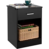 Deals on HOMFA Nightstand 2-Tier, Tall 1-Drawer End Table