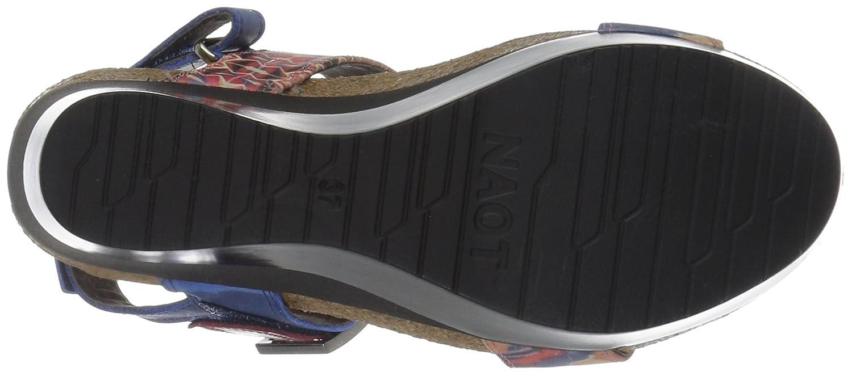 NAOT Women's Alpha Print Wedge Sandal B01HT7PKSS 41 M EU / 10 B(M) US|Blue/Red