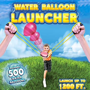 Amazon com: KOMVOX Water Balloon Launcher Slingshot 400 Yard