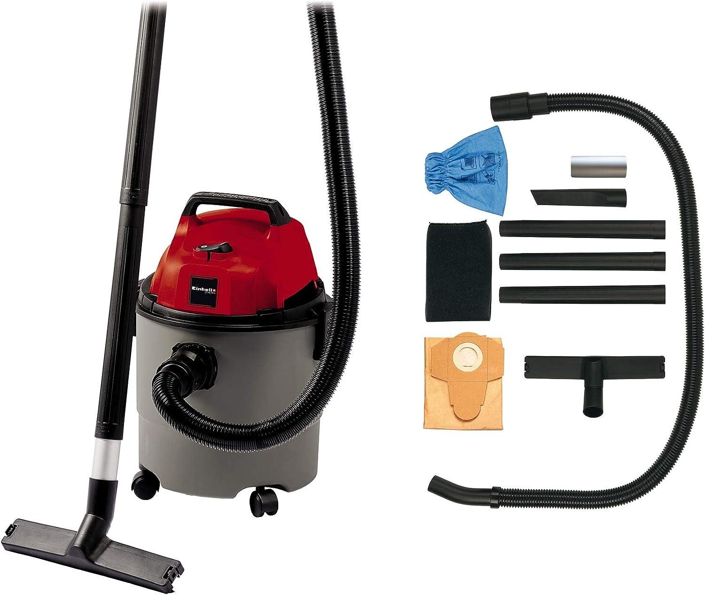 Einhell 2340290 Aspirador SECO-HUMEDO TH-VC 1815, 1250 W, 230 V, Negro, Gris, Rojo: Amazon.es: Bricolaje y herramientas