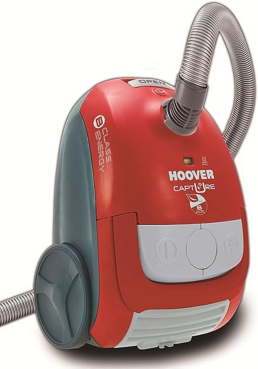 Hoover CP70 CP30 Capture CP 30-Aspirador con Bolsa. Sonoridad 85 dBA. Asa de Transporte, 700 W, 2.3 litros, Decibelios, Rojo Race/Gris Cool Oscuro: Amazon.es: Hogar