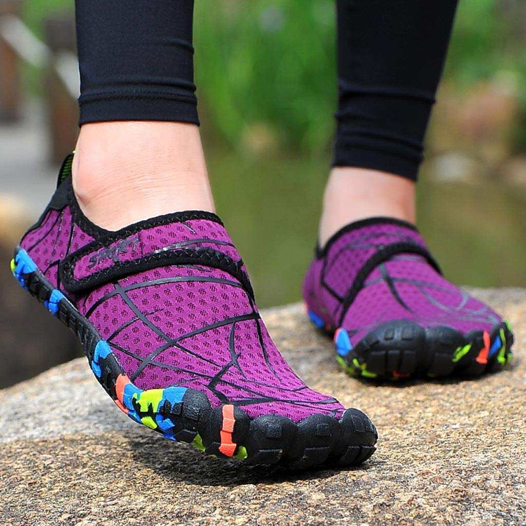 Amazon.com: Sharemen Mens Aqua Water Shoes Summer Sports Quick Dry Beach Pool Yoga Barefoot Shoes: Clothing