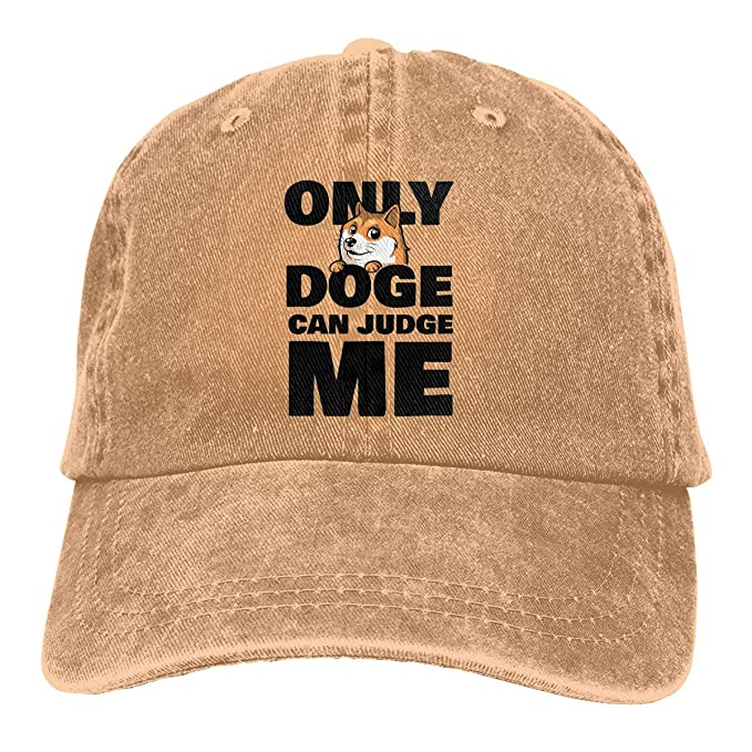 Shiba Inu Only Doge Can Judge Me Baseball Cap for Men Women - 100% Cotton a6e3dae5628