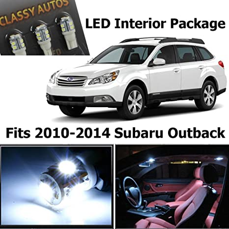 Classy Autos White LED Lights Interior Package for Subaru Outback (6 Pieces) by Classy