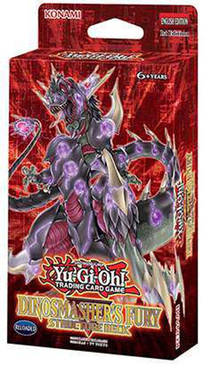 Yu-Gi-Oh! POKPLSHTRNLIT Yugioh 2017 Structure Deck - Dinosmasher's Fury, Red