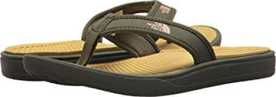 d39c12adc1cb The North Face Women s Base Camp Lite Flip-Flops - Olivenite Yellow and  Four Leaf