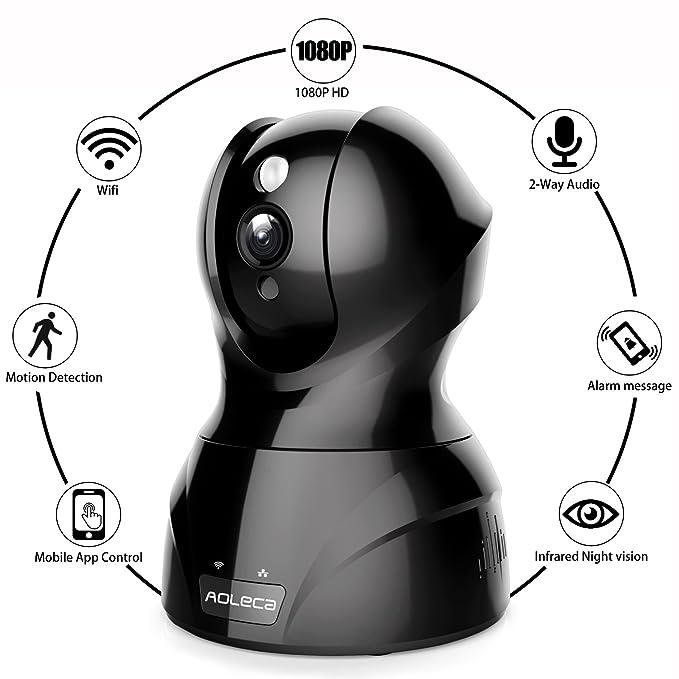 126 opinioni per Aoleca Telecamera IP 1080P Full HD Security Camera di Sorveglianza WiFi