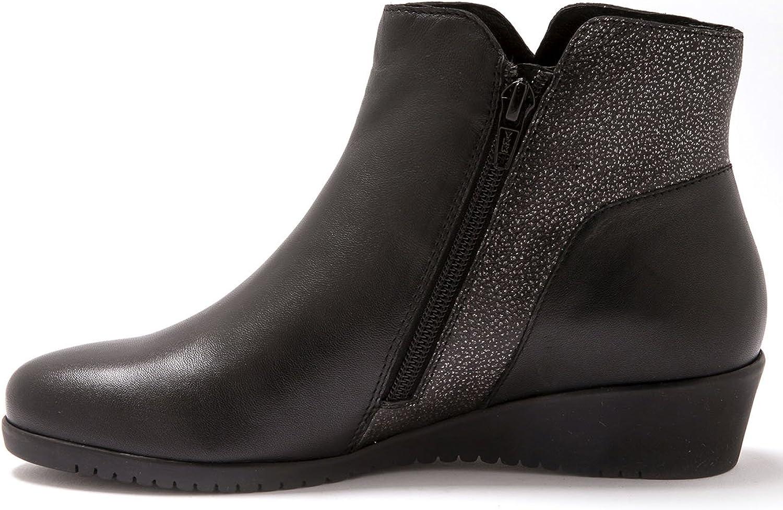 Pediconfort - Boots, Bicolore Femme Noir Argenté
