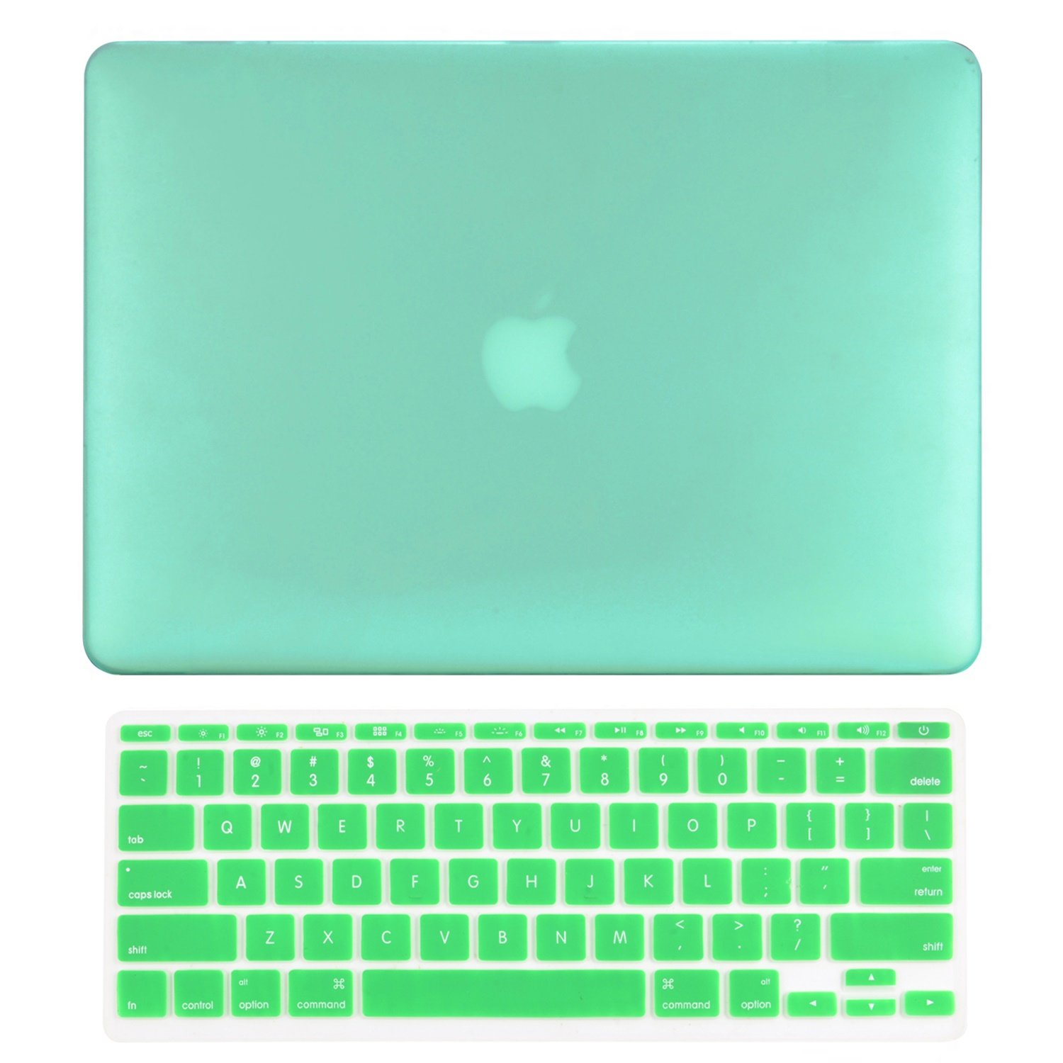 TOP CASE - 2 in 1 Bundle Deal Rubberized Hard Case Cover and Matching Color Keyboard Cover Compatible with Apple MacBook Air 11'' (A1370 and A1465) with TOP CASE Mouse Pad - Green