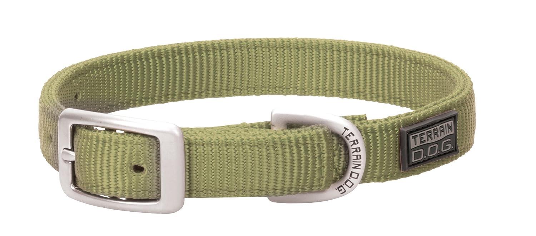 Olive 1\ Olive 1\ Terrain D.O.G. Nylon Double-Ply Dog Collar