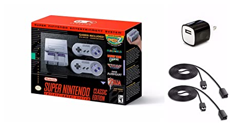 Amazon.com : Nintendo Super NES Classic Edition Bundle with Two 6-Foot Controller Extension Cables : Camera & Photo