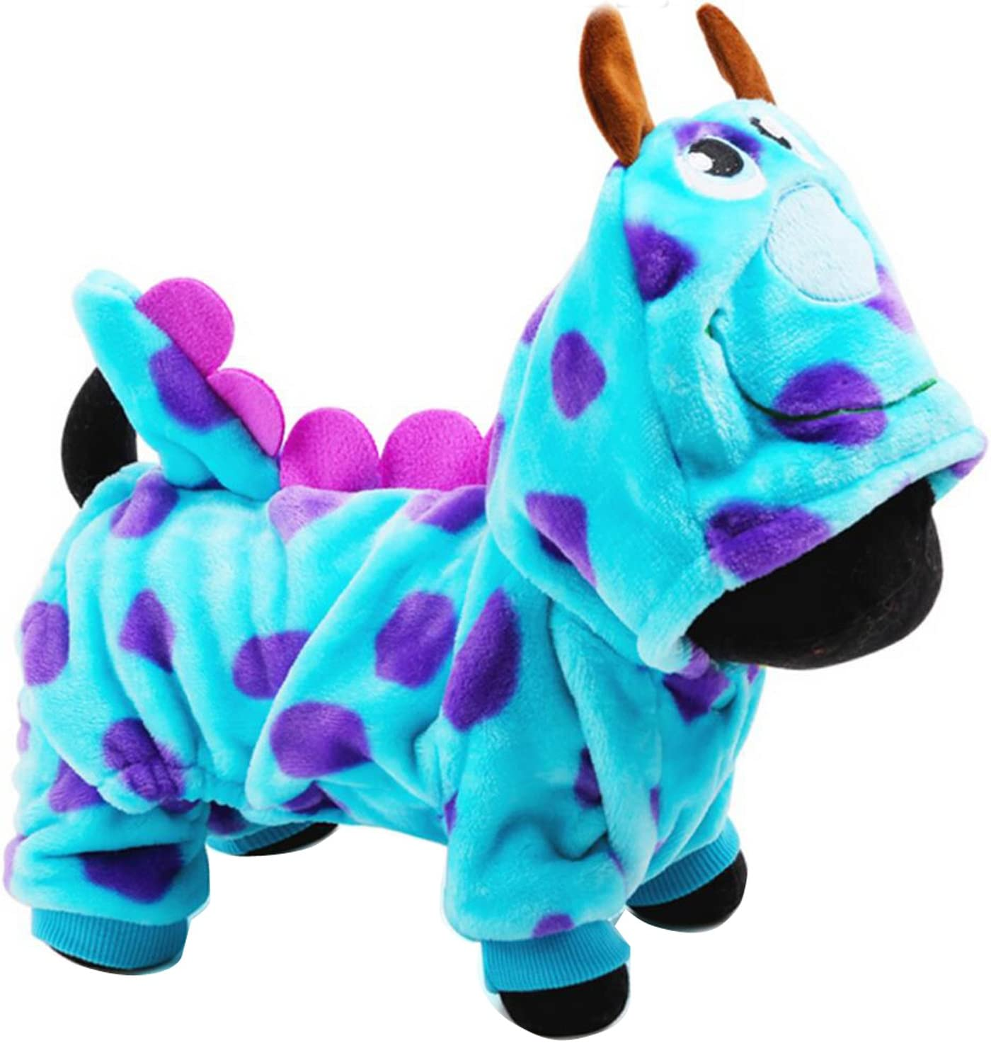 Purple LPATTERN Pet Dog Puppy Coat Halloween Dragon Cosplay Clothing Warm Coat Costume Outwear Apparel