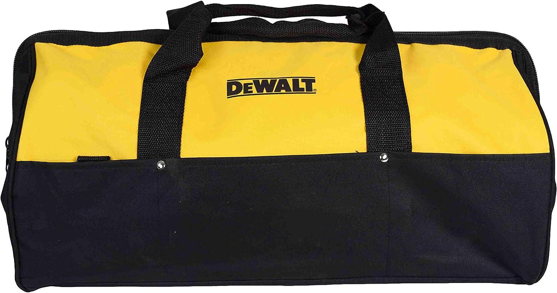 "New Dewalt Heavy Duty Ballistic Nylon Tool Bag 14"" w Runners /& 3 outside Pockets"