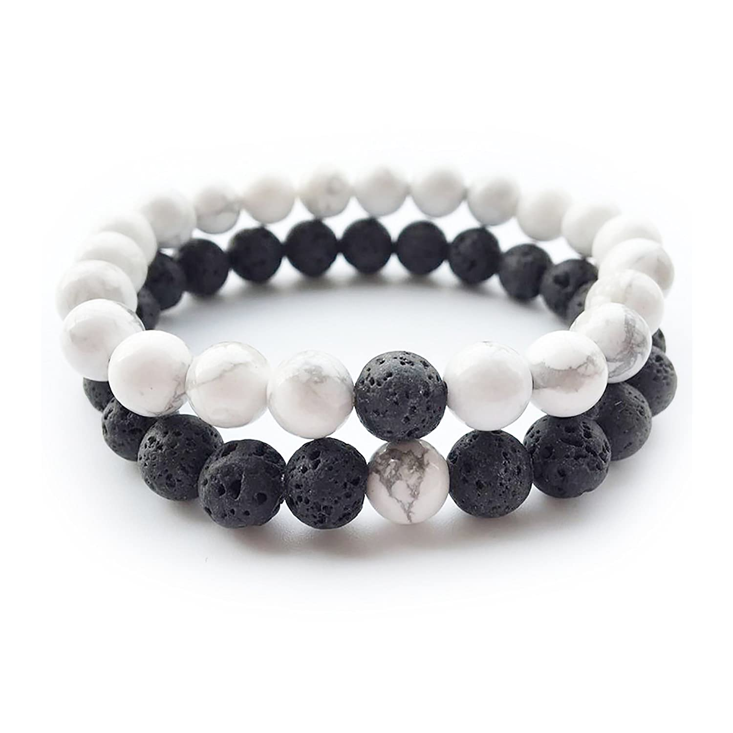 d4d74f95d67ff Yin and Yang Elastic Lava Stone Essential Oil Diffuser Bracelet (Pack of  2)  Amazon.ca  Toys   Games