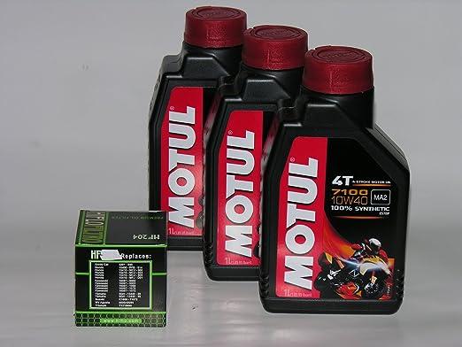 13 opinioni per 3 LT LITRI OLIO moto MOTUL 7100 10W40 + FILTRO OLIO 100% Sintetico NEW Ester 4 T