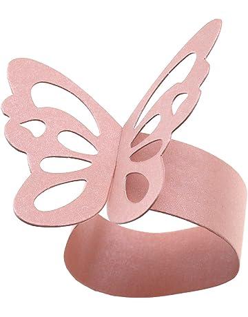 OTOTEC 50 servilletas de Papel con Forma de Mariposa, Color Rosa, para decoración de