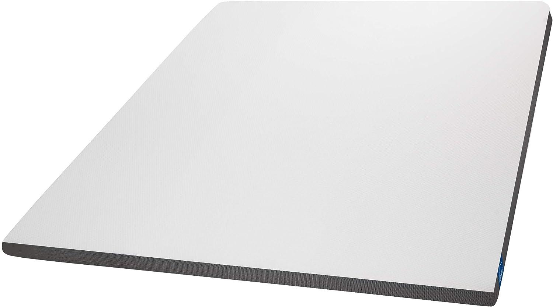 Genius Eazzzy Topper 180 x 200 cm – Protector de colchón para colchón y cama con somier – Protector viscoelástico para colchón de espuma de gel para ...