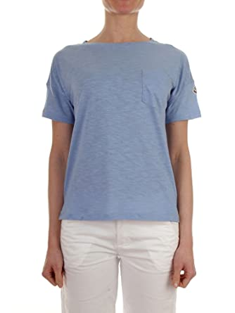 Moncler Women's 80819008285770C Light Blue Cotton T-Shirt