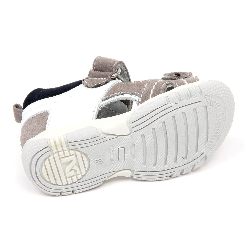 Nero Giardini C9562 Sandalo Bimbo Junior Scarpa Grigio/Blu Shoe Kid [19] Aclaramiento De 2018 79R82