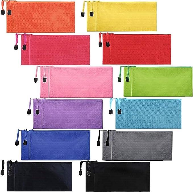 Top Zipper Oblong Bag Pen Pouch 8 Long Yellow Bird Fabric Artist Pen Storage Case Pencil Pouch