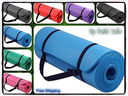 Amazon.com: Yoga Mat Pad ligero grueso ejercicio fitness ...