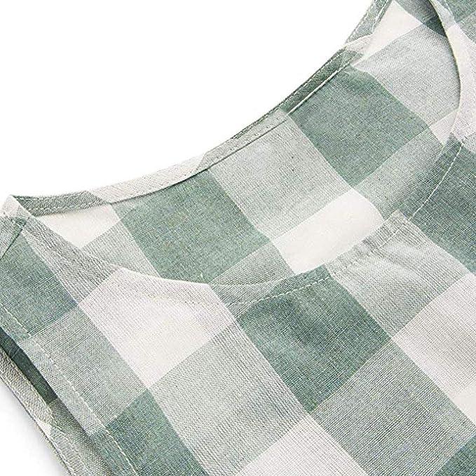 AHAYAKU Bow - Camiseta sin Mangas para Mujer, Cuello Redondo, con ...