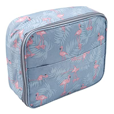 UNKE Print Cosmetic Makeup Bag Travel Toiletry Organizer Carrying Case Travel Camping Wash Bag,Blue