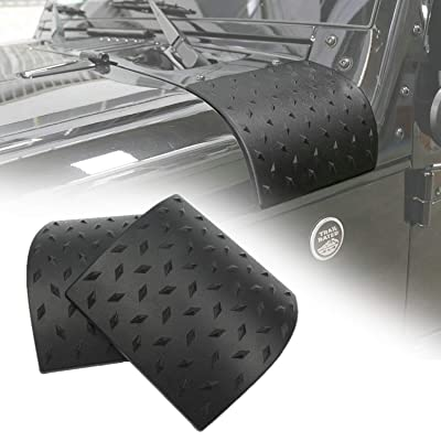 Danti Latest Black Cowl Body Armor Outer Cowling Cover For Jeep Wrangler Rubicon Sahara Jk Unlimited 2007 2008 2009 2010 2011 2012 2013 2014 2015 2016 2020 2020: Automotive