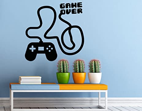 Gaming Wall Decal Video Games Vinyl Sticker Gamer Home Interior Housewares  Removable Wall Decor (3g01r
