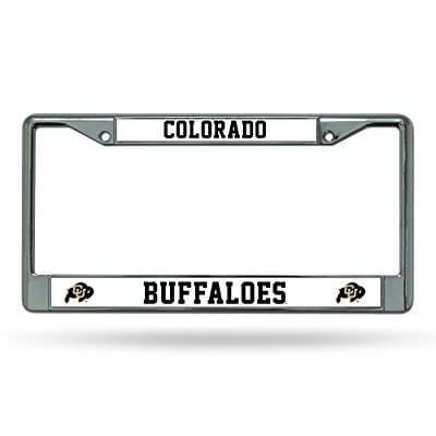 NCAA Rico Industries Standard Chrome License Plate Frame, Colorado Buffaloes : Automotive License Plate Frames : Sports & Outdoors