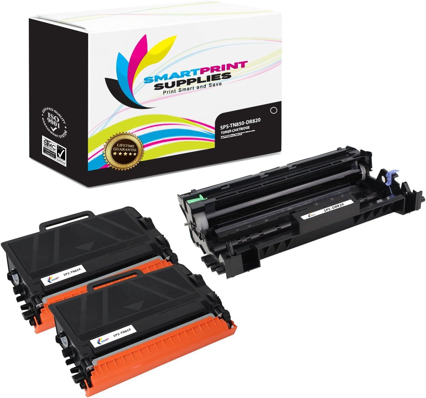 2 Toner,1 Drum DR-820 SuppliesOutlet Compatible Toner Cartridge and Drum Unit Set for Brother TN850 TN-850 DR820