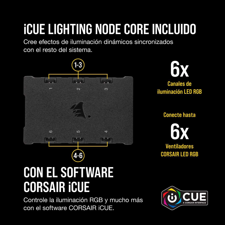 Corsair iCUE QL140 RGB, Ventilador LED RGB , 68 LED RGB Direccionables Individualmente, De Hasta 1250 RPM, Silencioso, Amortiguadores Antivibraciones, ...