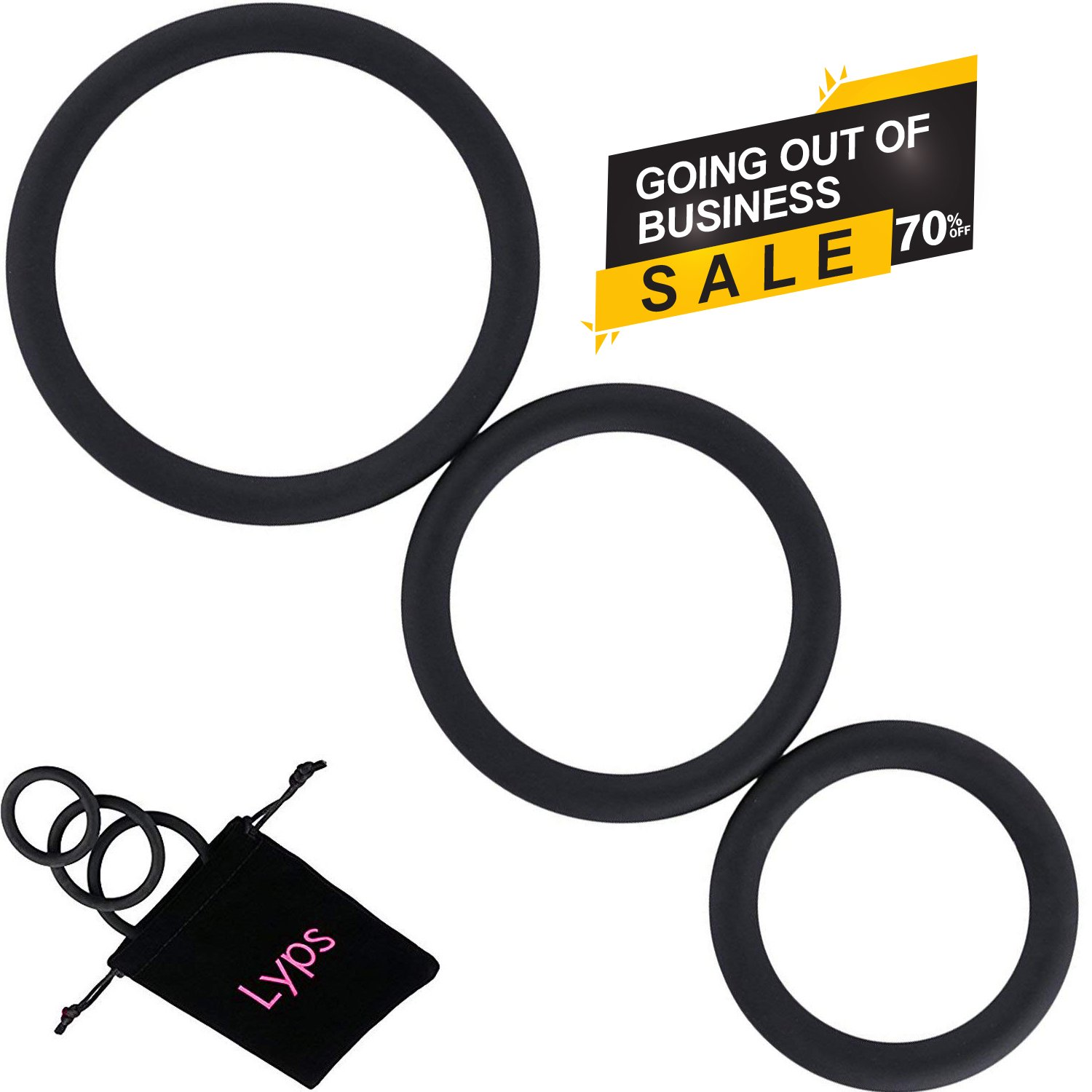 Amazon.com: Cock Ring Set by Lyps 3 sizes for Male Erection Enhancing Penis  Ring Seamless Rings Medical Grade Silicone: Health & Personal Care