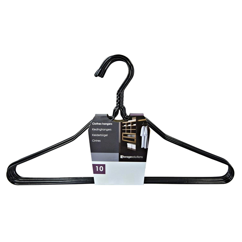 Kleiderbügel aus Metall Draht - 50 Stück - schwarz ...