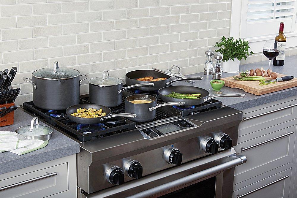 Calphalon 10 Piece Classic Nonstick Cookware Set, Grey by Calphalon (Image #2)