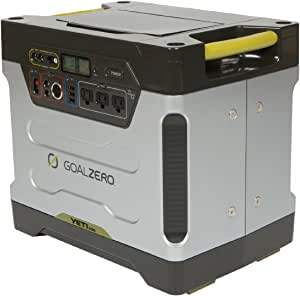 Goal Zero Yeti 1250 Portable Power Station with Roll Cart, 1200Wh Chainable Home Battery Backup Generator Alternative with 12V, AC, USB and Anderson Power Pole Outputs