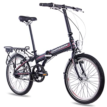 20 pulgadas bicicleta plegable para bicicleta plegable aluminio bicicleta CHRISSON foldrider 3.0 con 7 velocidades