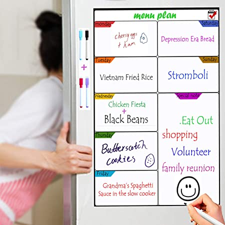 fridge meal planner action plan whiteboard ttmow magnetic weekly