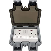 IP66 Outdoor Waterproof Switch With Power Indicator Outdoor Safety Switch Socket