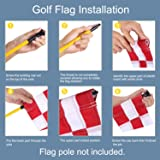 KINGTOP Checkered Golf Flag with Plastic