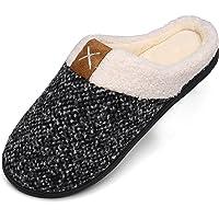 Chausson Hommes Femmes Hiver Pantoufles Mousse Mémoire Peluche Chaud Chaussons Maison Chaussures Antidérapantes Slippers