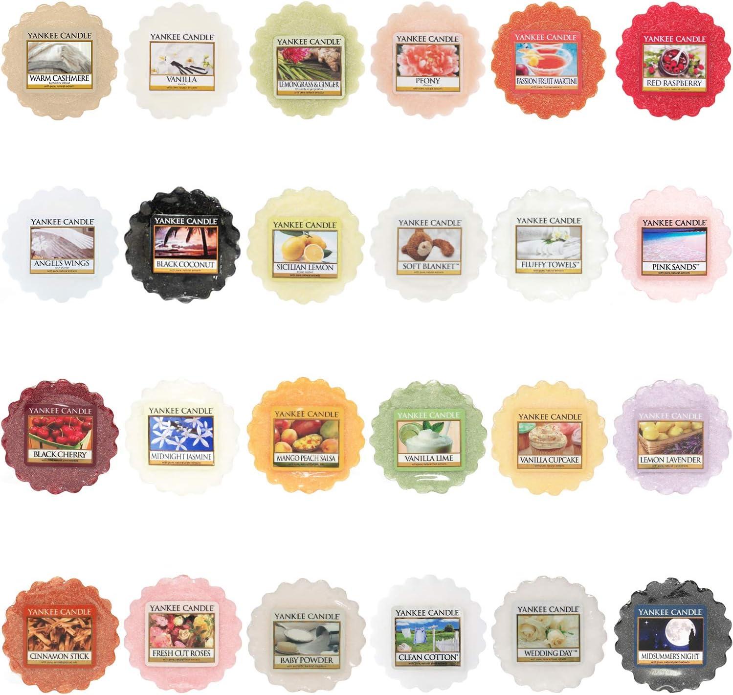 Yankee Candle Wax Melts Value Bundle, Set of 24, Mixed Popular Fragrances