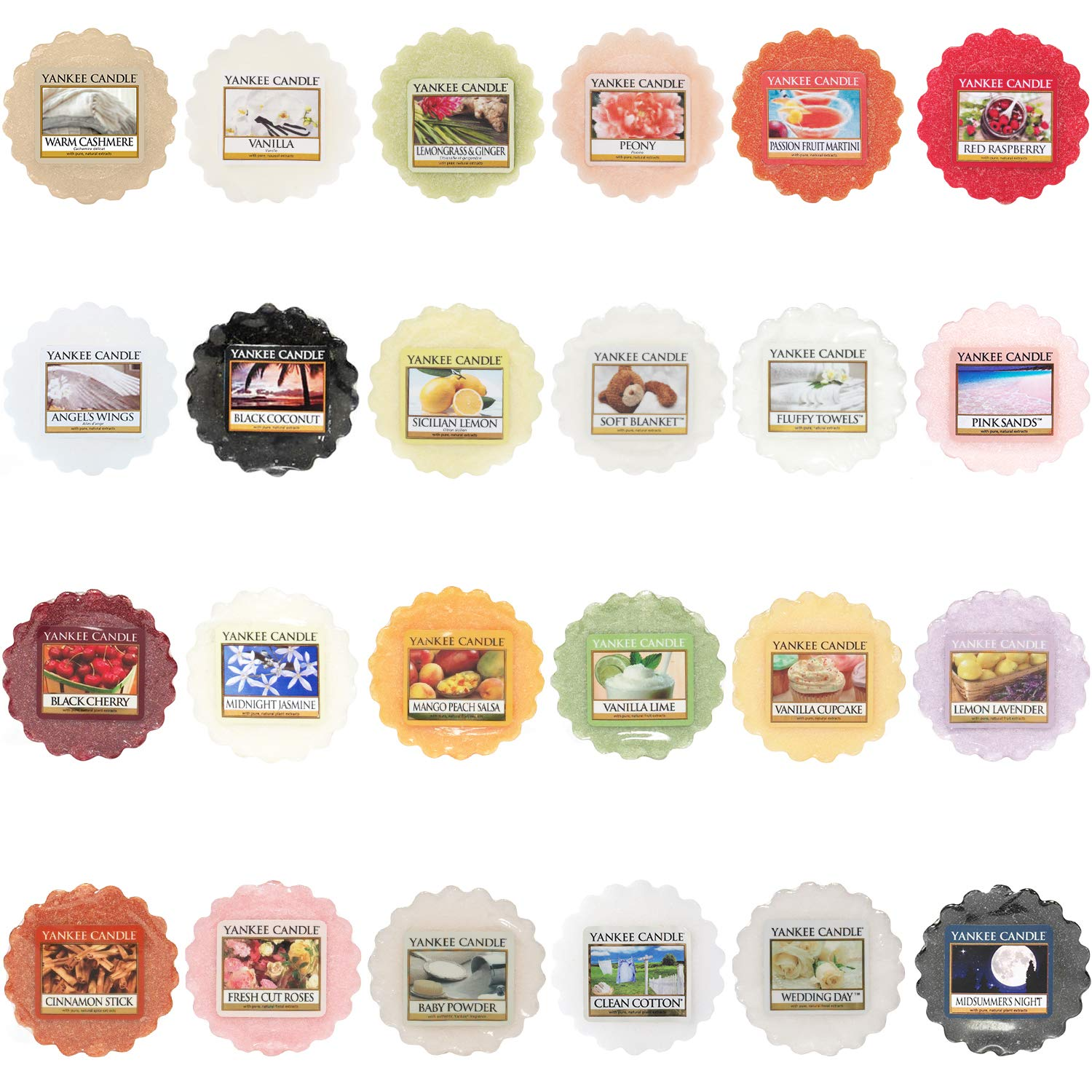 Yankee Candle Selection Of 24 x Wax Tart Melts ScreenCentre